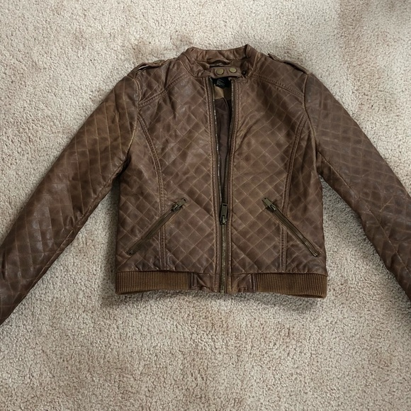 Forever 21 Jackets & Blazers - Forever 21 Brown Leather Jacket